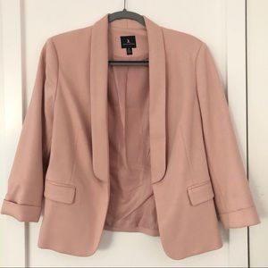 Jules & Leopold Muted Pink 3/4 Sleeve Blazer Small
